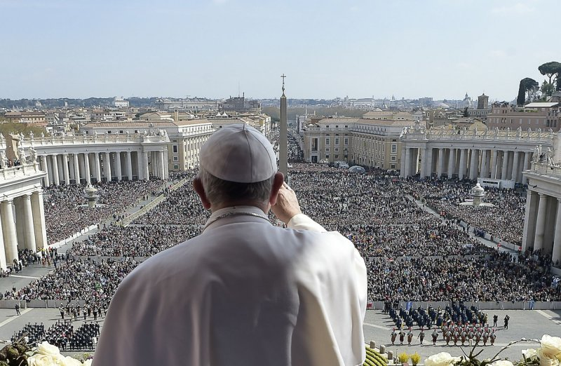 教宗方濟各25日主持彌撒。(美聯社)