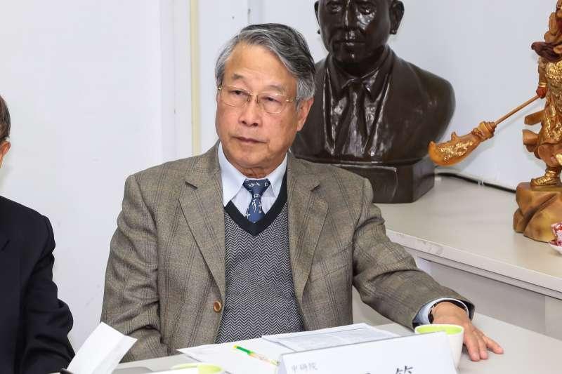 中研院院士廖運範出席「醫界的良心呼籲,特赦陳水扁」記者會。(顏麟宇攝)