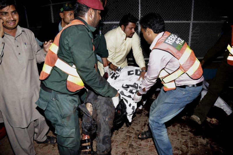 巴基斯坦東部大城拉合爾(Lahore)27日發生傷亡慘重的恐怖攻擊(美聯社)