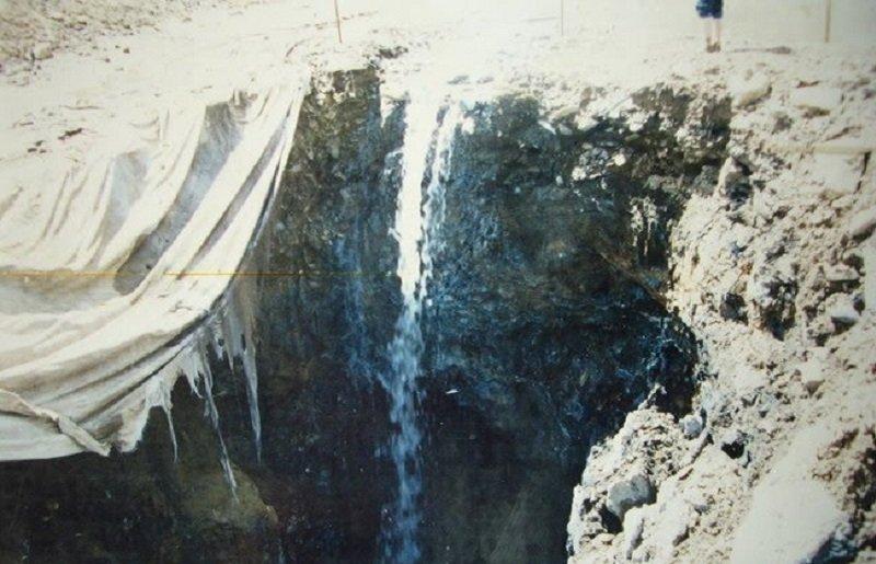 拉薩被汙染的水源。(來源:唯色「看不見的西藏」網頁)