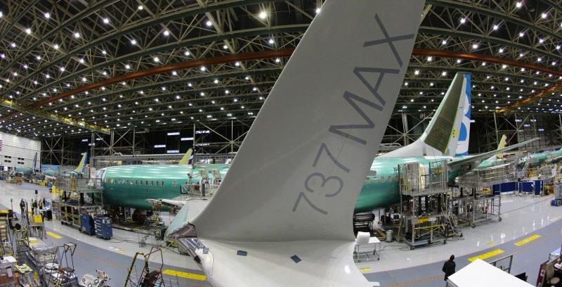 波音 Boeing 737 MAX組裝廠。(美聯社)
