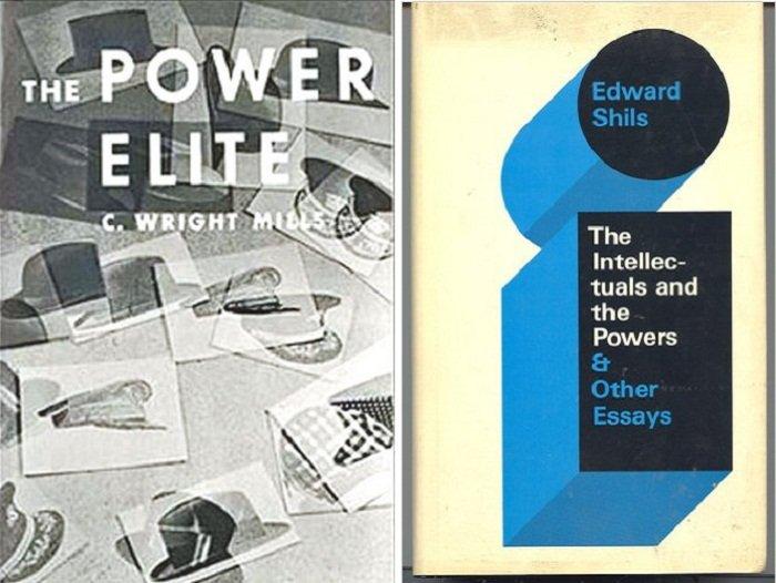 《權力菁英》原文版(左)與《知識份子與當權者》原文版(右)。