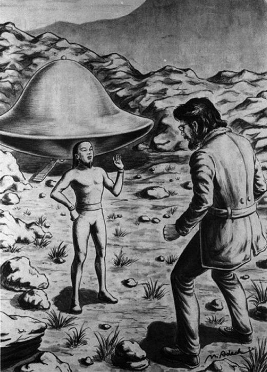 雷爾與外星人的相遇示意圖(取自《外星人的訊息》電子書)