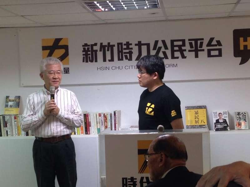時代力量第一個地方黨部「新竹時力公民平台」成立,蔡仁堅、邱顯智(臉書)