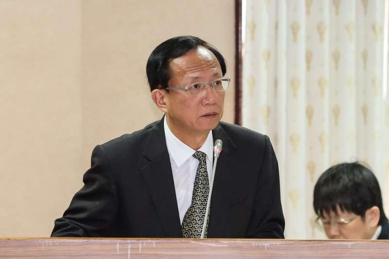 警政署副署長陳嘉昌於司法法制委員會備詢。(顏麟宇攝)