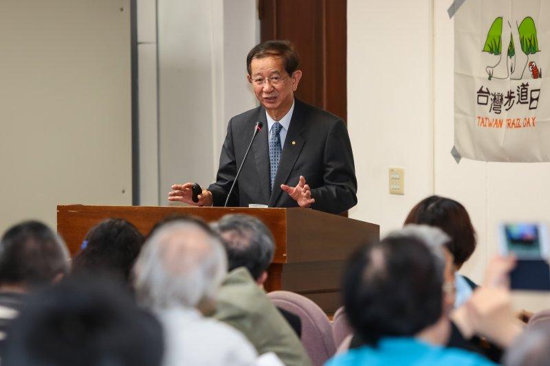 中央研究院前院長李遠哲出席2016第13屆全國NGOs環境會議。(顏麟宇攝)