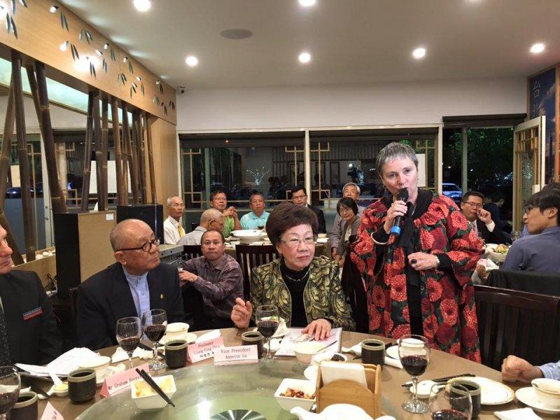 呂秀蓮出訪澳洲,與僑胞及國際友人餐敘(呂秀蓮臉書)