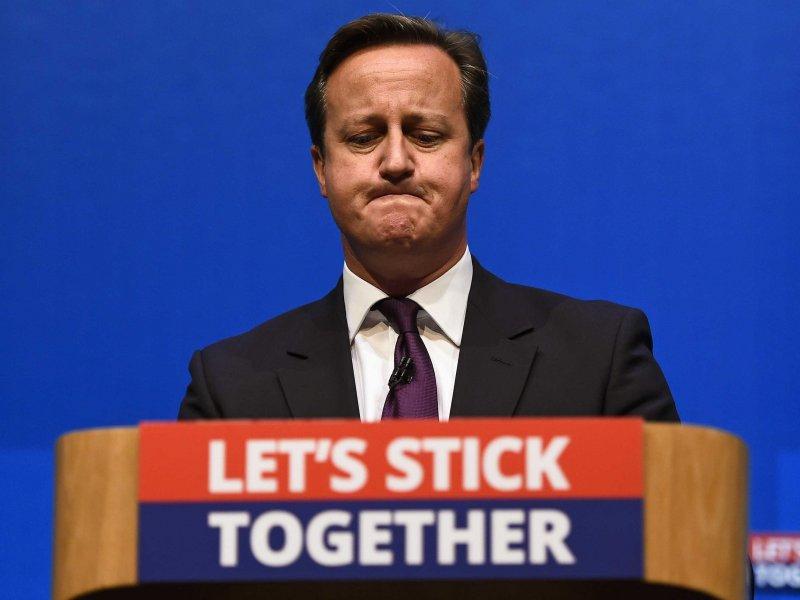 「如果公投結果是脫離歐盟,首相卡麥隆就得下臺,保守黨內會大分裂,那麼之後的發展就好看了。」 (uk.businessinsider.com )