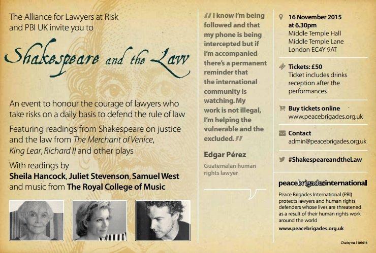 莎士比亞與法律(取自網路)