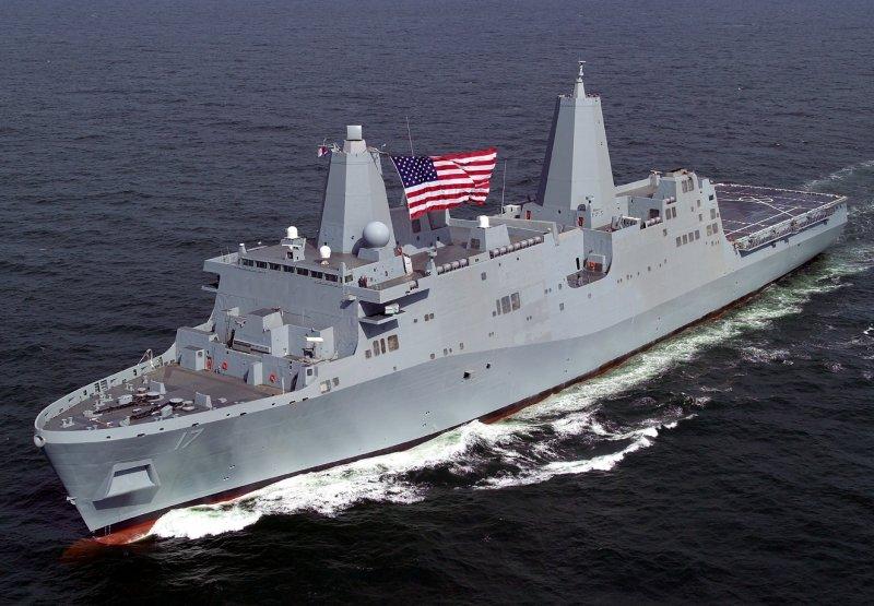 美國海軍LPD-17聖安東尼奧級(San Antonio-class)兩棲船塢運輸艦。(取自維基百科)