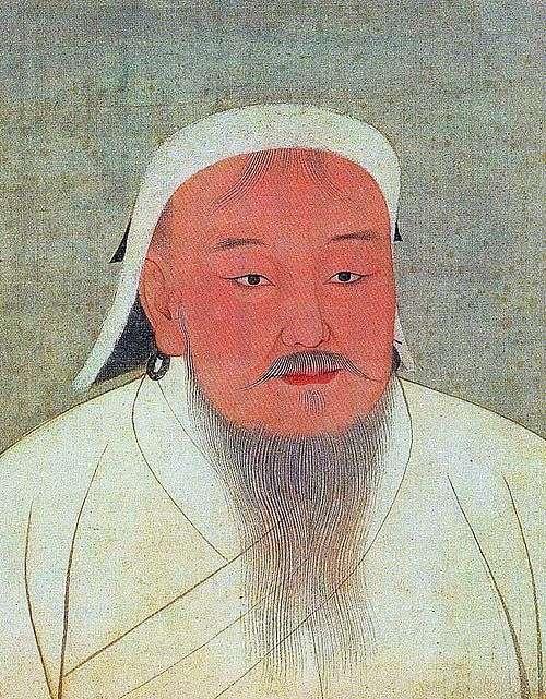 成吉思汗像。