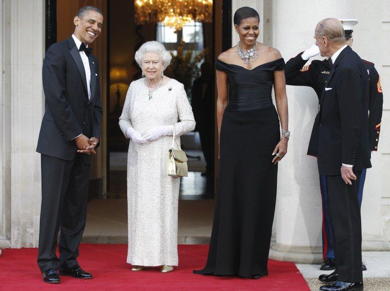 女王夫婦與歐巴馬伉儷(美聯社)