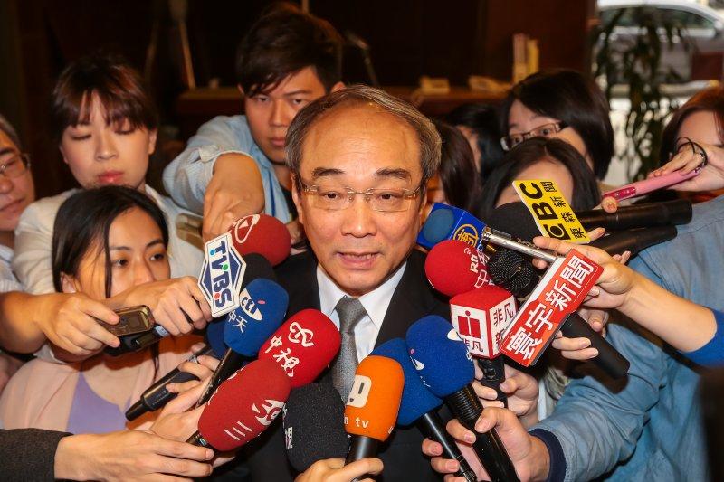 中央研究院副院長王汎森27日至教育委員會備詢。(顏麟宇攝)