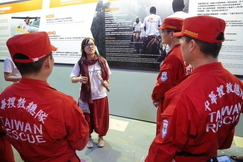 「穿梭救援間」無國界醫生亞洲巡迴展覽。(顏麟宇攝)