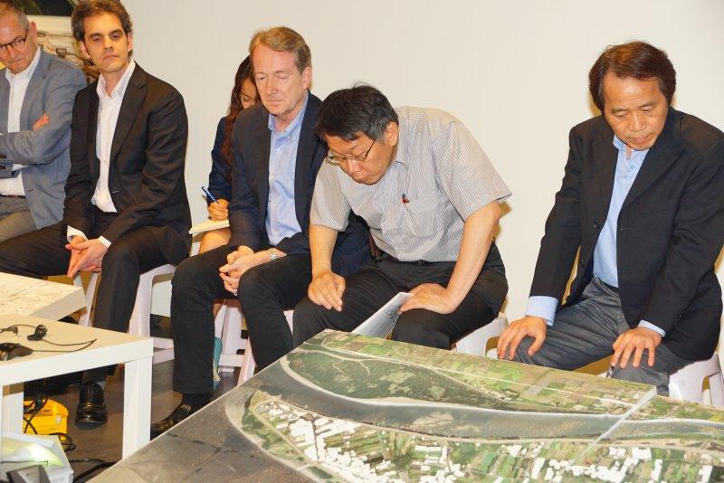 台北市社子島國際工作坊,市長柯文哲、副市長林欽榮與眾局處首長、專家學者與會