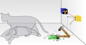 「薛丁格貓」是奧地利物理學者埃爾溫·薛丁格於1935年提出的一個思想實驗。(取自維基)