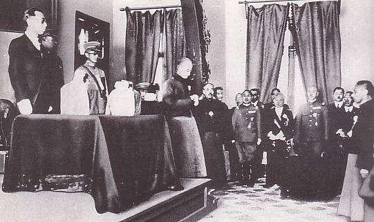 滿洲國執政就任式 (圖取自:維基百科)
