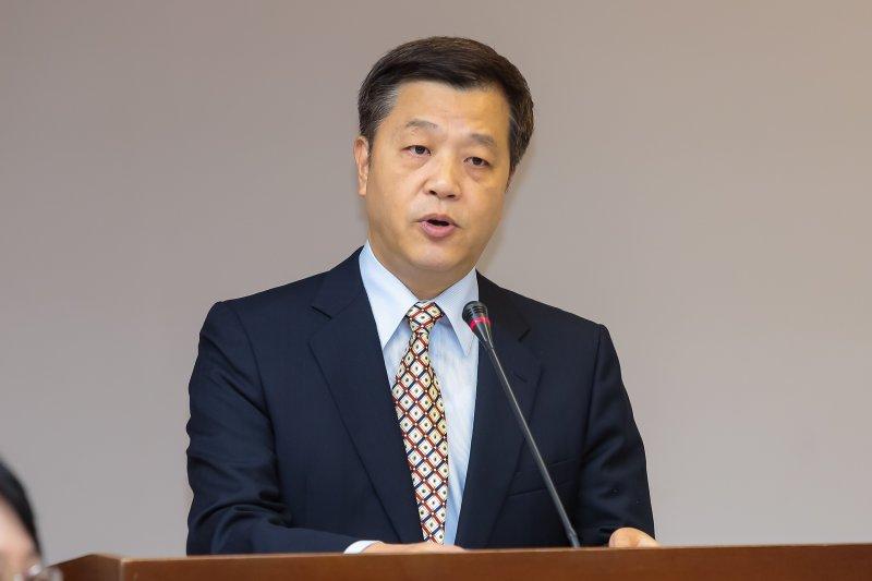 勞動部長陳雄文9日出席衛環委員會備詢。(顏麟宇攝)
