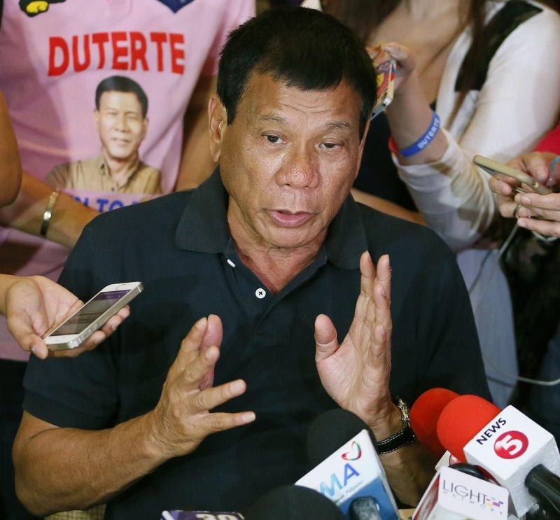 杜特蒂當選菲律賓新任總統。(美聯社)