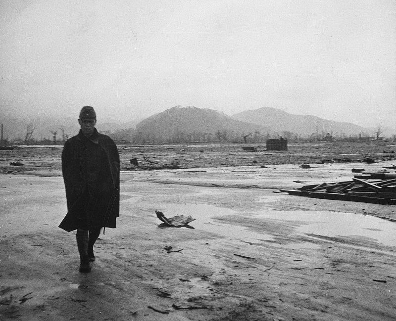 1945年8月,廣島,原爆。(美聯社)