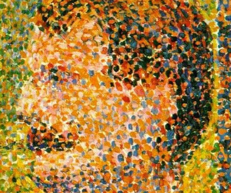 點彩畫派的藝術品,隱含了數位身份的關鍵問題。(作者提供)