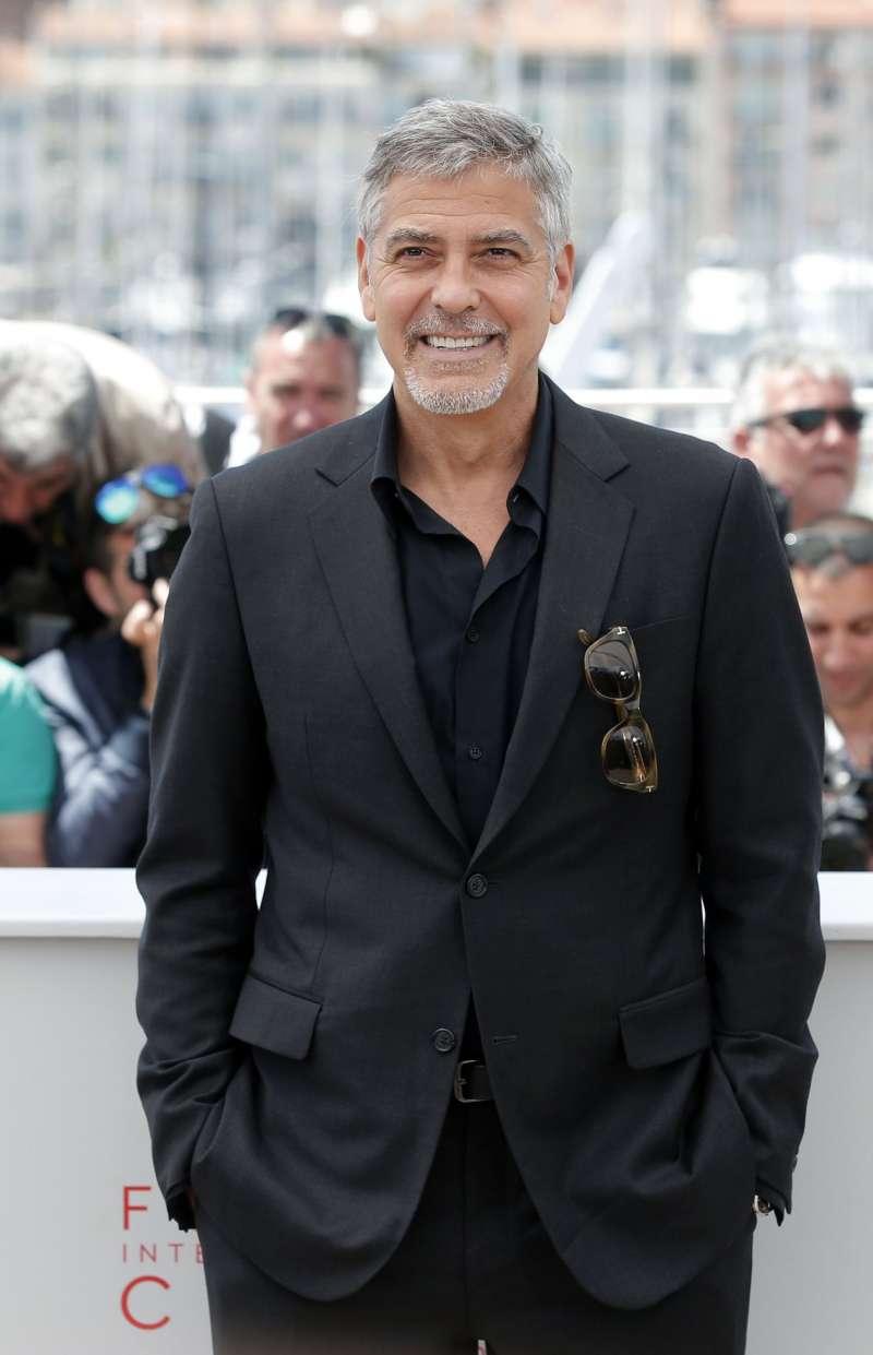 美國好萊塢男星喬治克隆尼12日出席法國坎城影展時,媒體訪問到他對川普參選的看法時,他堅定表示,「不會出現川普總統的!」。(美聯社)