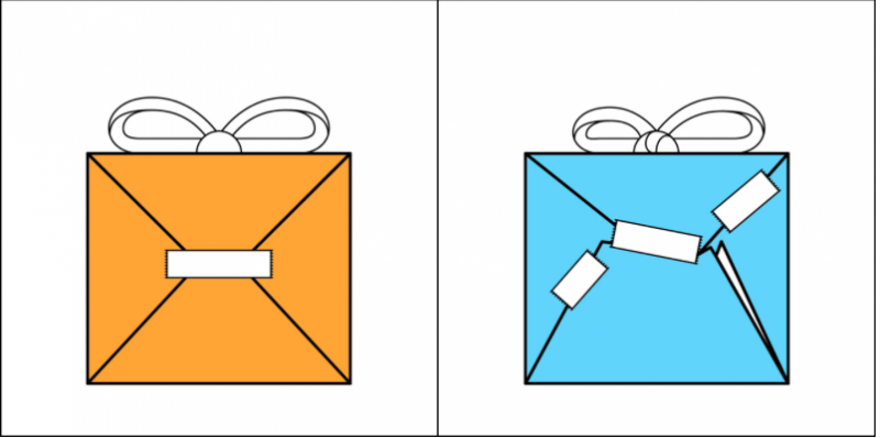 黏貼包裝時,是不是一絲不苟呢?(圖/2 kind of people@Tumblr)