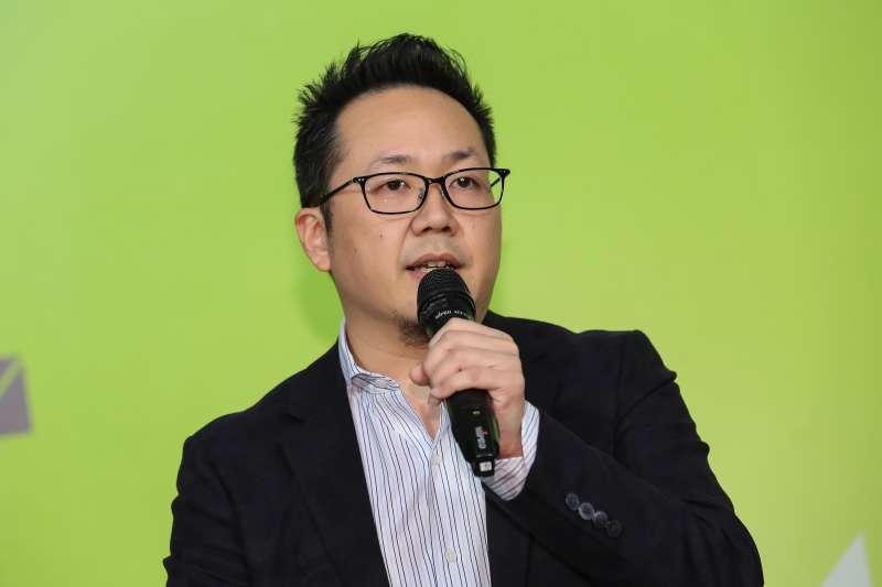 民進黨媒體創意中心主任李厚慶出席中華民國第十四任總統副總統就職相關活動聯合記者會。(顏麟宇攝)