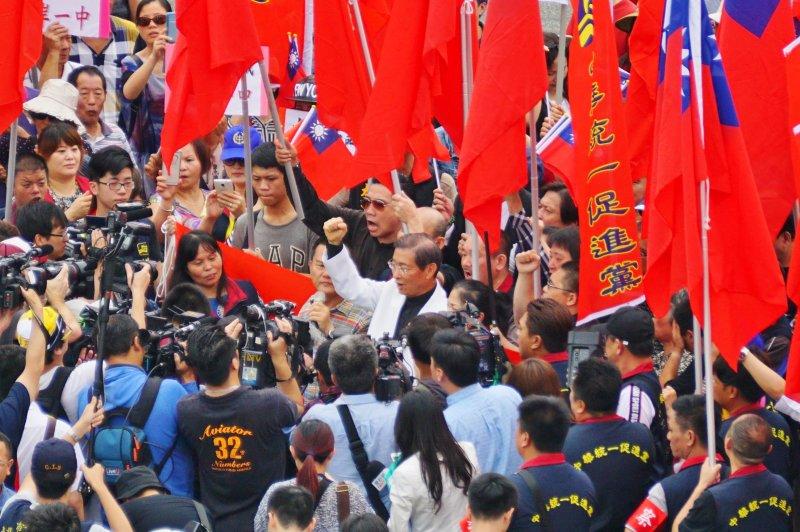 總統就職典禮陳抗區畫面 白狼張安樂