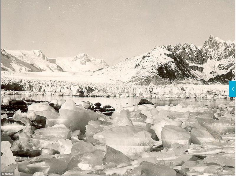 位於西北邊的阿拉斯加這裡冰河地形十分發達。(圖/NASA)