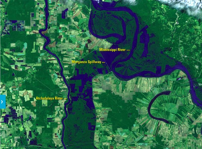 顯而易見,河流流域大幅擴大。(圖/NASA)