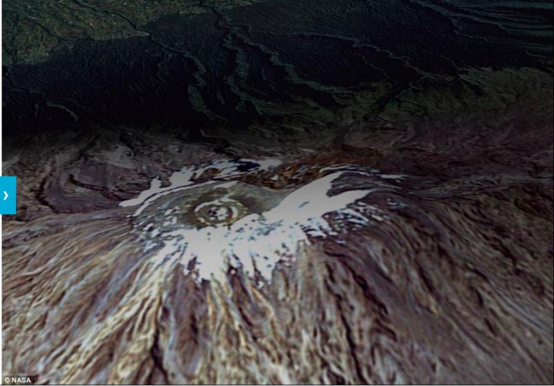 如今以大大減縮一半的冰原面積。(圖/NASA)