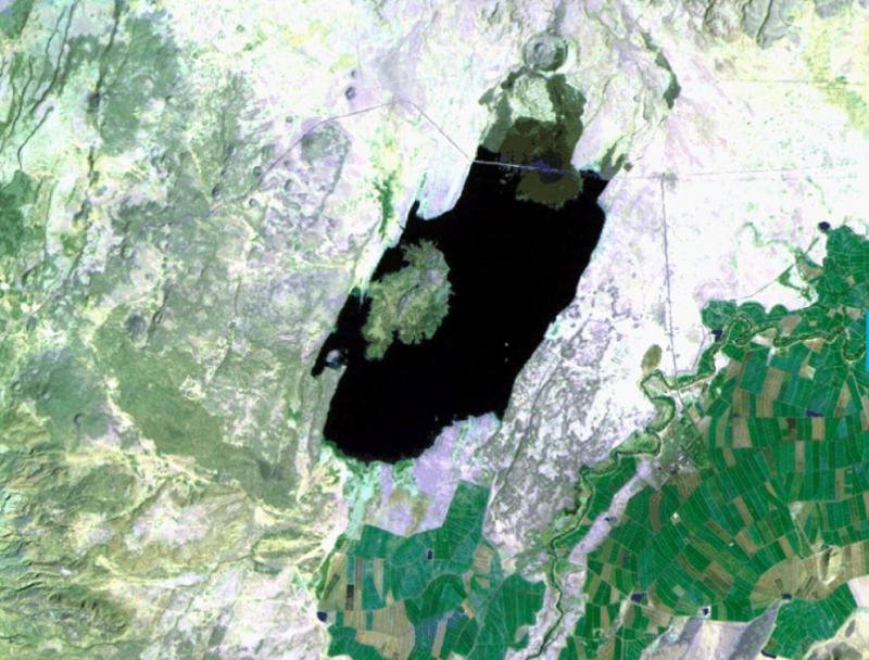衣索比亞的Basaka湖。(圖/NASA)
