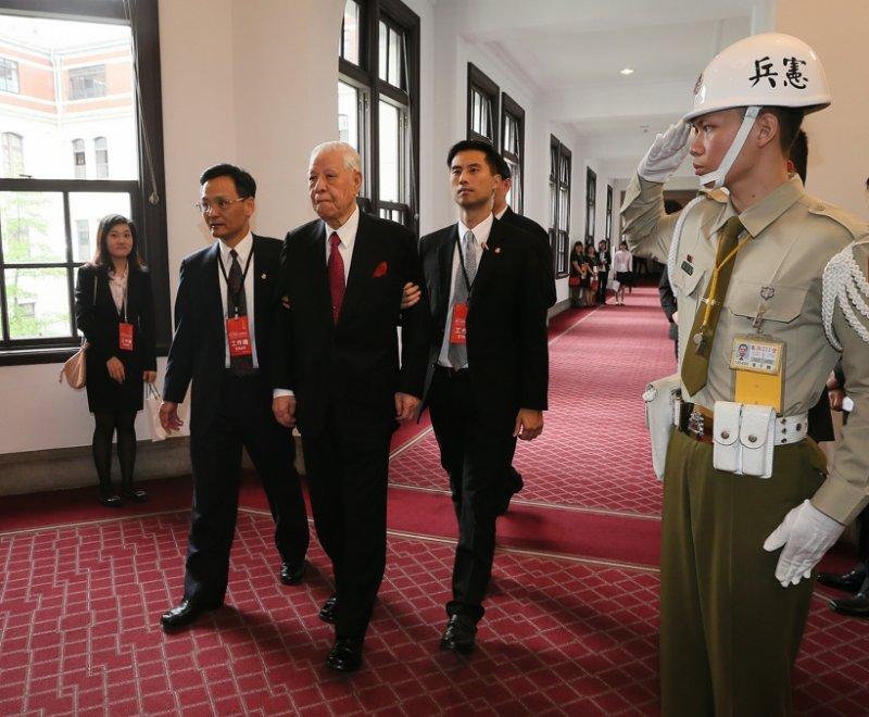 105-蔡英文就職典禮-李登輝前總統也到場-台北市攝影記者聯誼會提供