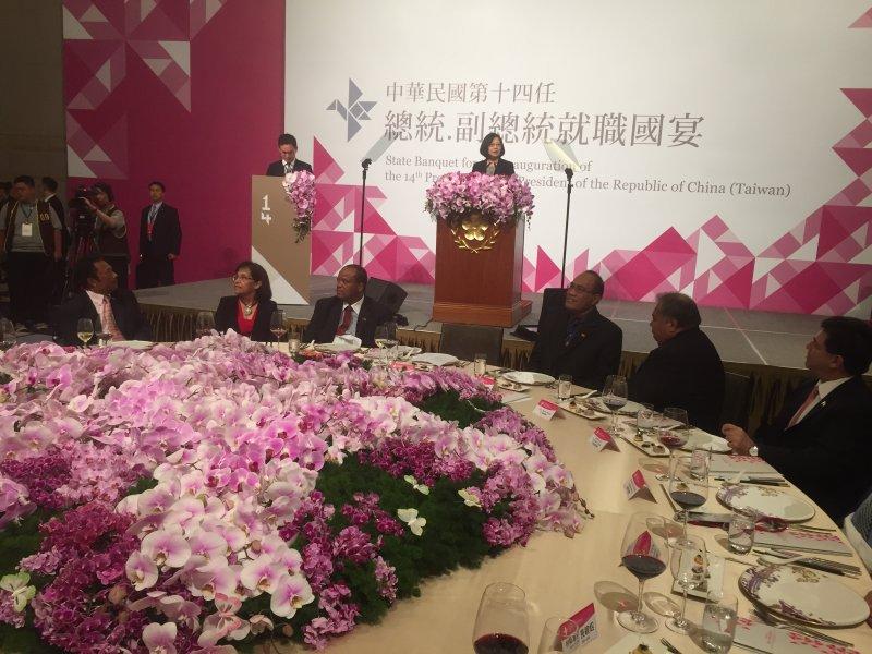 蔡英文、520就職國宴。(台北市攝影記者聯誼會提供)