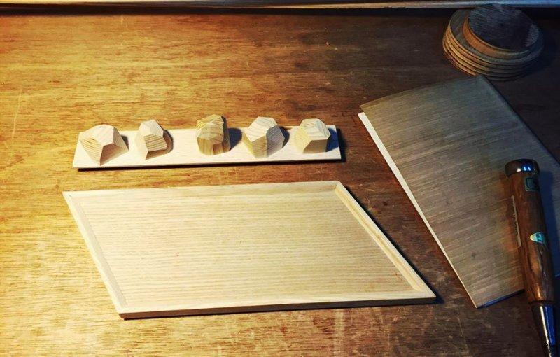與木工工作室合作開發文具小物。(圖/起家工作室KIGE@facebook)
