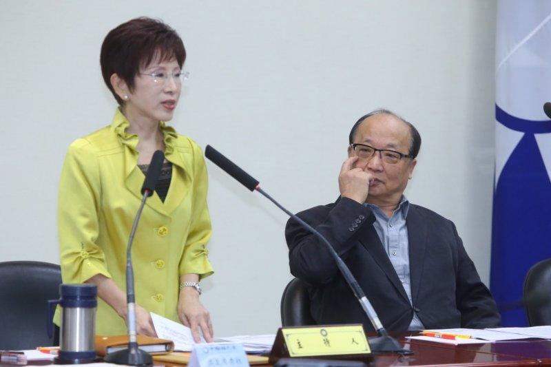 國民黨25日中常會,黨主席洪秀柱、副主席胡志強。(蔡耀徵攝)