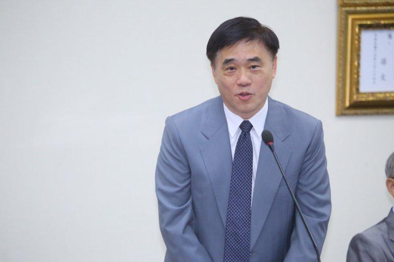 國民黨25日中常會,副主席郝龍斌。(蔡耀徵攝)