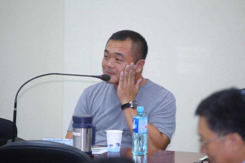 國民黨25日中常會,東聖吉16號船長潘建鵬。(蔡耀徵攝)