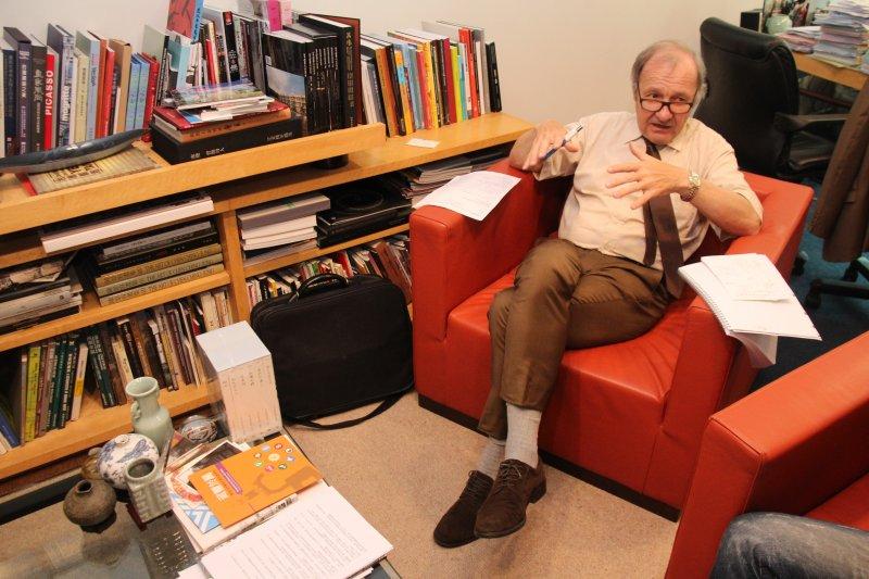 法國公共辯論委員會CNDP 人物專訪。(王德為攝)