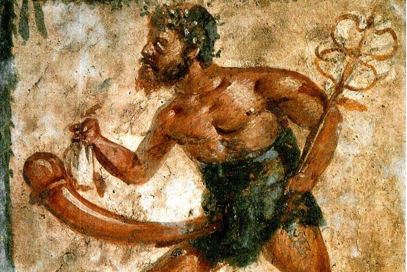 古希臘壁畫中的普里阿普斯。(圖/維基百科)