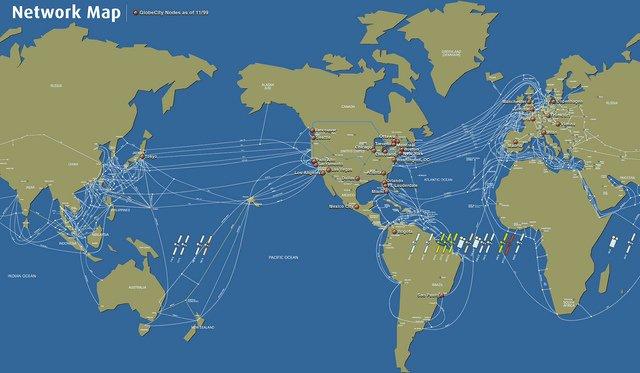 現有的跨國(洲)海底電纜數量驚人。(取自flickr)