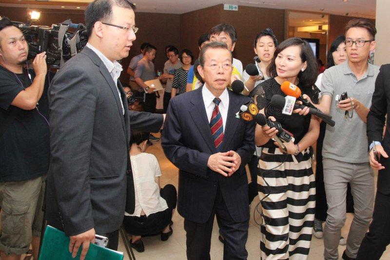 謝長廷出席亞東關係協會會長改選。(王德為攝)