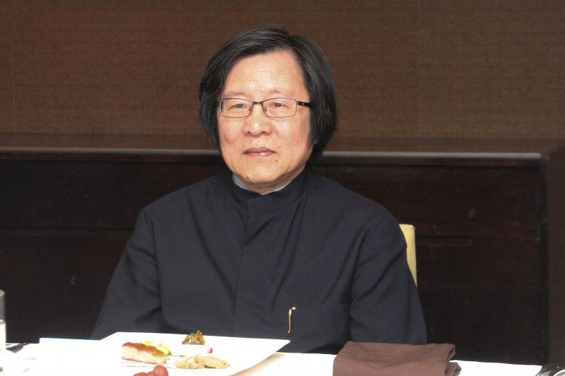 亞東關係協會會長改選餐會 會長邱義仁。(王德為攝)
