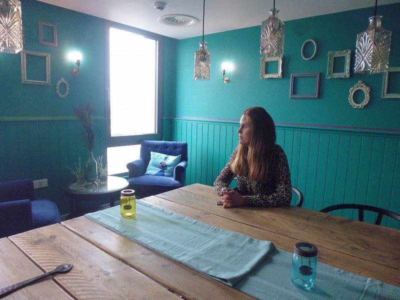 倫敦「集體生活」私人住房計劃,公共主任Stephanie也住在裡面。(白曉紅攝)