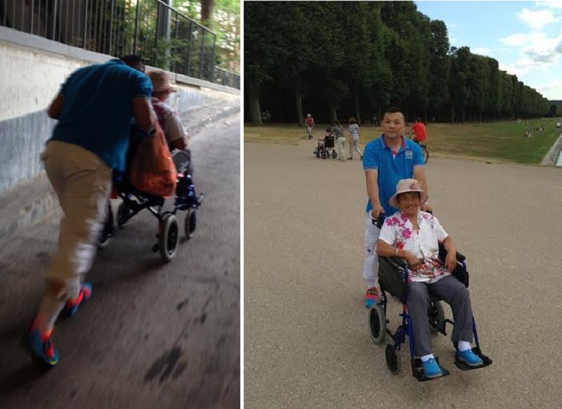 時隔多年後,張健才得以與母親在海外相聚。(作者提供)