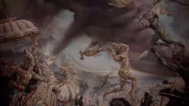 古印度史詩《摩訶婆羅多》曾提及神、鬼、人的大戰,似乎與死亡之丘有關。(圖/影片截圖)