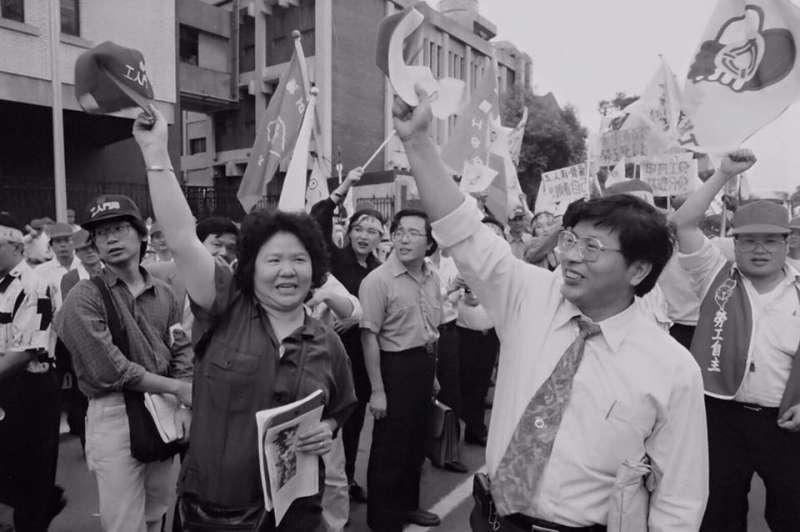昔日街頭抗爭戰友戴振耀罹癌,陳菊表示非常不捨。(取自陳菊臉書)