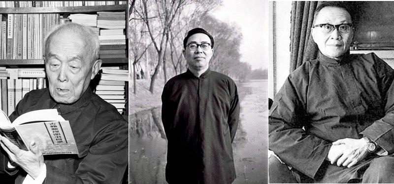 左起:季羡林、李慎之、王元化