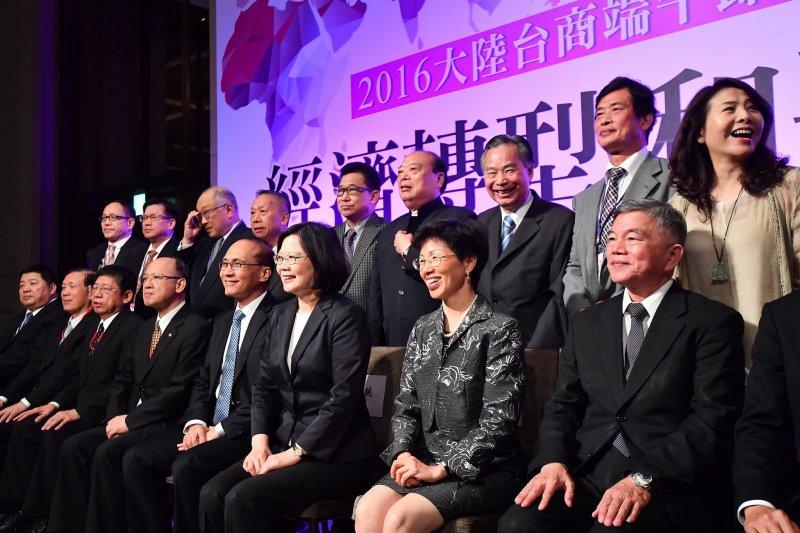 20160608-總統蔡英文出席「大陸台商端節聯誼」晚宴。(總統府提供)